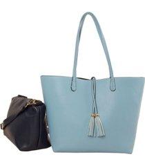 imoshion handbags women's reversible bag-in-bag tote
