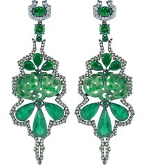 emerald and green jade earrings