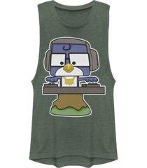 disney pixar juniors' toy story 4 dj blu jay festival muscle tank top