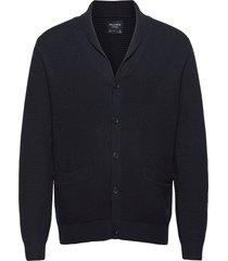 anf mens sweaters stickad tröja cardigan blå abercrombie & fitch