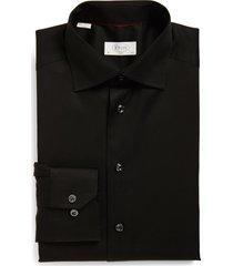 men's eton slim fit twill dress shirt, size 15 - black
