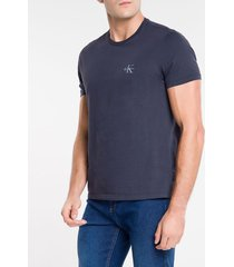 camiseta masculina logo ck lateral marinho calvin klein jeans - p