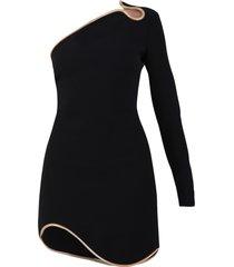 stella mccartney one-shoulder cady dress