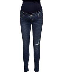 maternity full panel favorite jeggings jeans mom jeans blå gap