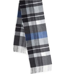 boxed exploded plaid cashmere scarf