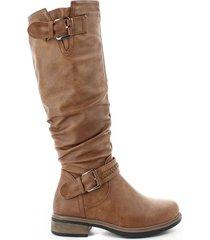 botas para mujer, marca via spring, color café.