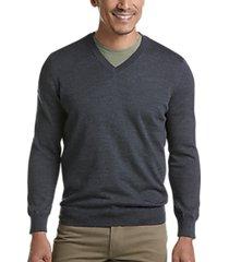joseph abboud charcoal 37.5® technology v-neck sweater
