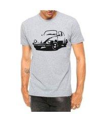 camiseta criativa urbana carro antigo clássico fusca manga curta