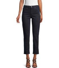 joe's jeans women's high-rise dark-wash jeans - dynamite - size 24 (0)