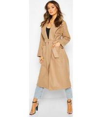 oversized robe belted coat, camel