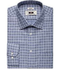joseph abboud navy check classic fit dress shirt