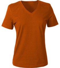v-shirt voor haar, terracotta 44
