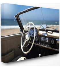 "stupell industries long beach vintage-inspired car canvas wall art, 16"" x 20"""