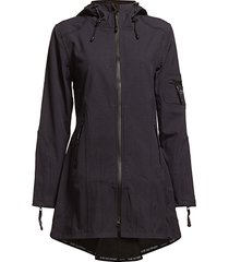 hip-length softshell raincoat regenkleding paars ilse jacobsen