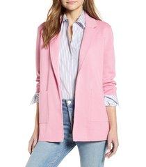 women's j.crew new lightweight sweater blazer, size medium - pink