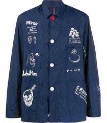 johnundercover boxy fit shirt - blue