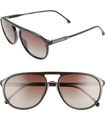 men's carrera eyewear 58mm polarized aviator sunglasses -