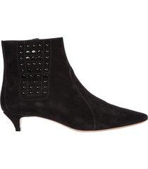 stivaletti stivali donna con tacco camoscio