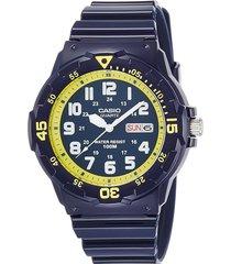 reloj análogo azul casio