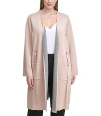 calvin klein plus size belted cardigan