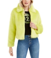 guess acid queen faux-fur jacket