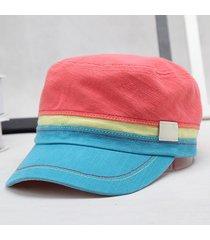 cappello militare comodo cappello cotone comodo variopinto cappello casuale di protezione solare per le donne
