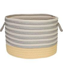 colonial mills chloe stripe braided storage basket