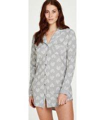 hunkemöller pyjamastopp med hjärta grå
