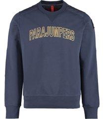 parajumpers logo detail cotton sweatshirt
