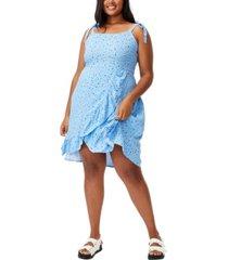 trendy plus size woven kaela mini dress