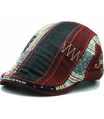 sombrero de boina de algodón lavado unisex