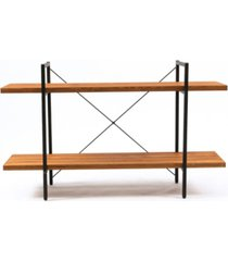 """luxen home 31"""" height 2-tier wood etagere bookcase"""
