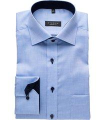 eterna shirt bleu comfort fit strijkvrij