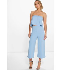 bandeau top & culottes co-ord set, sky