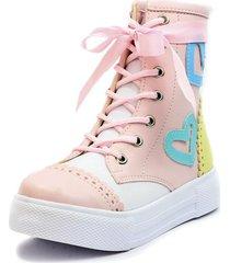 botas rosa por amarilo blanco perla nc-847