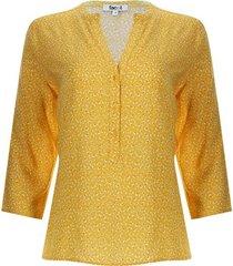 blusa petalos girasoles color amarillo, talla l
