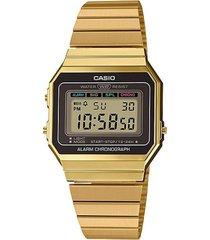 reloj casio a700wg-9adf dorado acero inoxidable