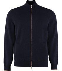 brunello cucinelli high collar zipped cardigan