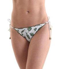 calcinha biquíni avulso ripple ivy - estampa ivy - feminina - feminino