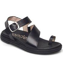 b-7413 pergamena shoes summer shoes flat sandals svart wonders