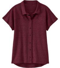 linnen-jersey blouse, granaatappel 40/42