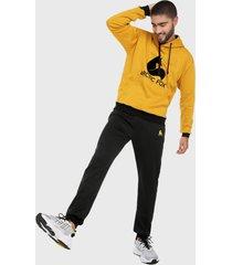 sudadera para hombre conjunto hoodie mostaza y negro arctic fox