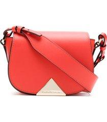 emporio armani bolsa tiracolo de couro - vermelho