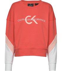 pullover sweat-shirt tröja röd calvin klein performance