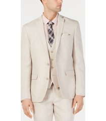 bar iii men's slim-fit chambray suit jackets, created for macy's