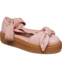 bow creeper sandal shoes summer shoes flat sandals rosa puma