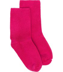 baserange stretch-cotton mid-calf socks - pink