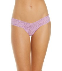 women's hanky panky low rise thong, size one size - purple