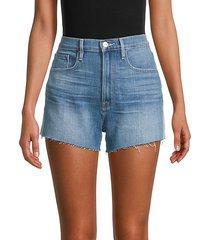 le vintage cropped denim shorts
