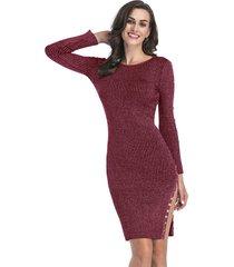 vestidos de lápiz de manga larga para mujer vestidos de otoño vestido mujer